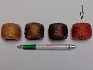 Gyöngy hímzőfonal (perlé), rozsdabarna (7958-7340)