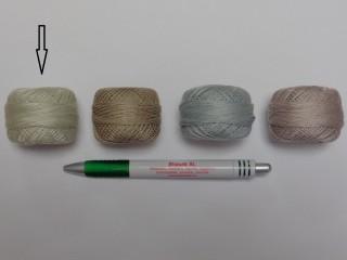 Gyöngy hímzőfonal (perlé), zöldes-szürke (7959-7397)