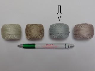 Gyöngy hímzőfonal (perlé), v.szürke (7961-912)