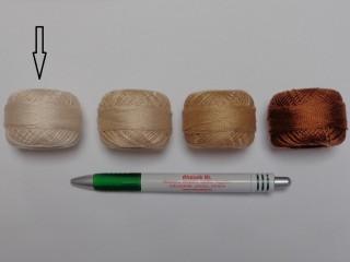 Gyöngy hímzőfonal (perlé), világos drapp (7963-7387)