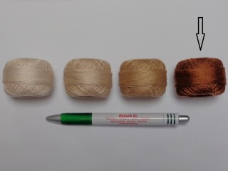 Gyöngy hímzőfonal (perlé), őzbarna (7965-7371)