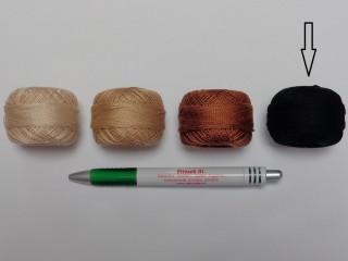 Gyöngy hímzőfonal (perlé), fekete (7967-7403)