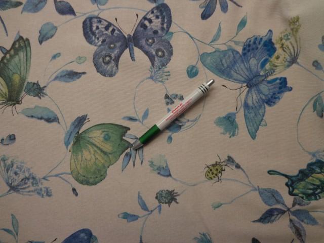 Loneta, kék pillangós kerti bútor vászon (7976)