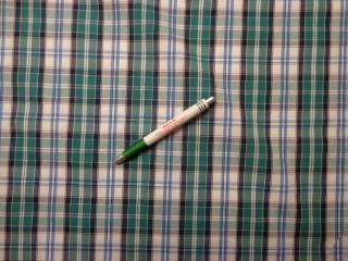 Inganyag, kék-zöld-szürke kockás (8069)