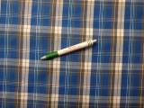 Inganyag, kék-szürke kockás (8070)