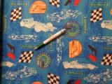 Loneta, Forma 1, kerti bútor vászon, kék (8077)
