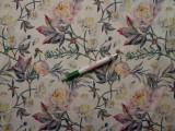 Sztreccs muszlin, rózsaszínes pünkösdi rózsás (8082)