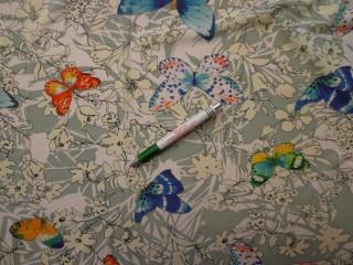 Sztreccs muszlin, pillangós (8083)