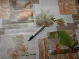 Viaszos vászon, liliomos-orchideás (8127)