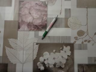 Viaszos vászon, hortenziás-barack virágos (8128)