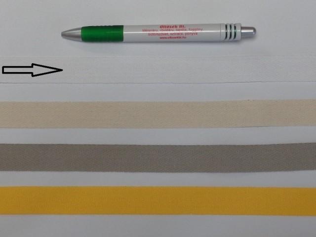 2 cm széles, köpper szalag, fehér (8136)