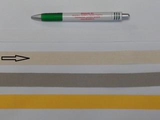 2 cm széles, köpper szalag, ekrü (8137)