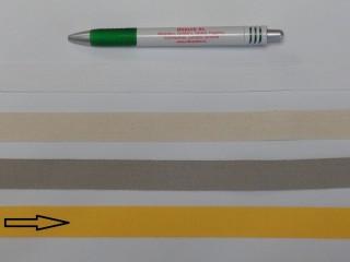 2 cm széles, köpper szalag, sárga (8139)
