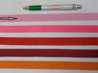 2 cm széles, köpper szalag, rózsaszín (8140)