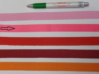 2 cm széles, köpper szalag, pink (8141)