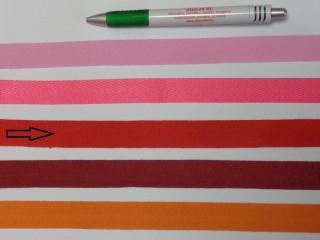 2 cm széles, köpper szalag, piros (8142)