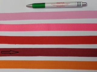 2 cm széles, köpper szalag, bordó (8143)