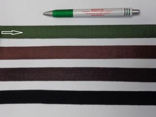 2 cm széles, köpper szalag, zöld (8149)