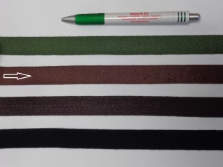 2 cm széles, köpper szalag, barna (8150)