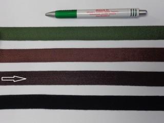 2 cm széles, köpper szalag, sötét barna (8151)