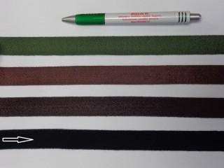 2 cm széles, köpper szalag, fekete (8152)