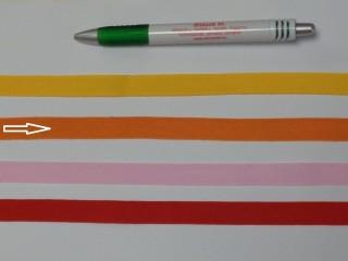 1,3 cm széles danubia szalag, narancs (8157)