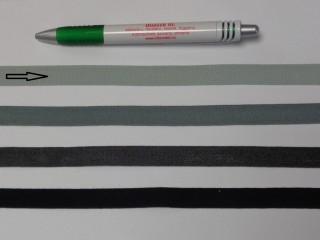 1,3 cm széles danubia szalag, világos szürke (8160)