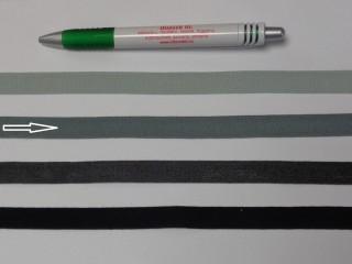 1,3 cm széles danubia szalag, közép szürke (8161)