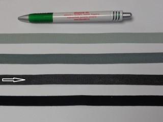 1,3 cm széles danubia szalag, sötét szürke (8162)