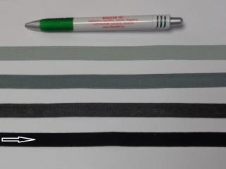 1,3 cm széles danubia szalag, fekete (8163)