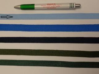 1,3 cm széles danubia szalag, világos kék (8164)