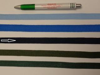1,3 cm széles danubia szalag, sötétkék (8166)