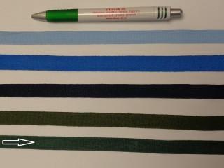 1,3 cm széles danubia szalag, zöld (8168)