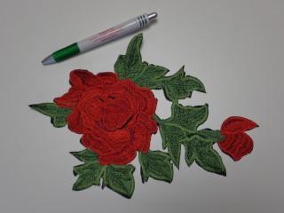 Vasalható folt, piros rózsák, zölddel, nagy (8169)