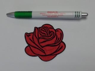 Vasalható folt, piros rózsa fekete széllel (8171)