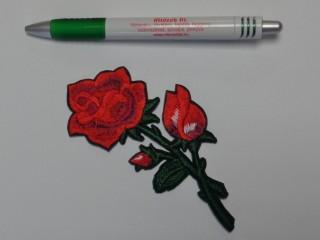 Vasalható folt, száras piros rózsa, bimbós (8173)