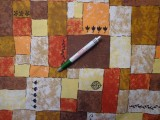 Loneta, barna kockás kerti bútor vászon (8199)