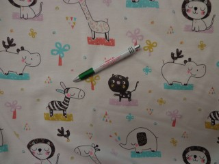 Gyerekmintás pamut jersey, zebrás-vizilovas (8206)