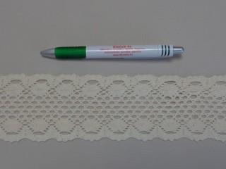 Pamut csipke, ekrü, 7 cm széles (8249)