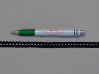 Pamut csipke, fekete, 1 cm széles (8256)