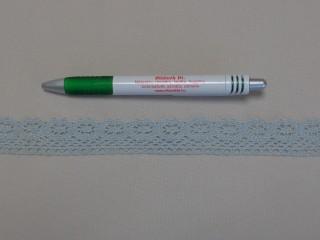 Pamut csipke, zöldes-szürke, 2,5 cm széles (8261)