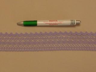 Pamut csipke, lila, 4,5 cm széles (8263)