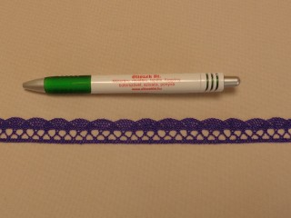 Pamut csipke, lila, 1,6 cm széles (8269)
