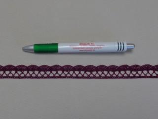 Pamut csipke, bordó, 1,8 cm széles (8270)