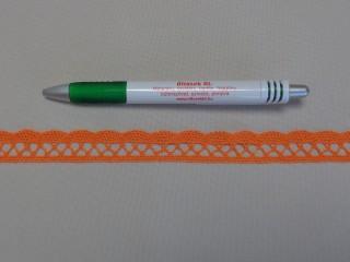Pamut csipke, narancs, 1,8 cm széles (8272)
