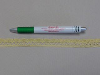 Pamut csipke, citromsárga, 1,6 cm széles (8274)