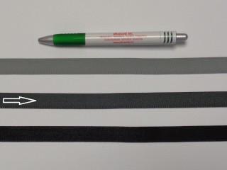 Koptató szalag, 1,5 cm széles, sötét szürke (8278)