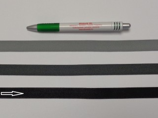 Koptató szalag, 1,5 cm széles, fekete (8279)