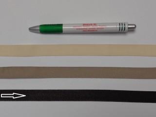 Koptató szalag, 1,5 cm széles, sötét barna (8283)