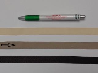 Koptató szalag, 1,5 cm széles, drapp (8284)